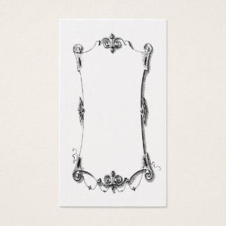 Antique French Scrolling Frame Card