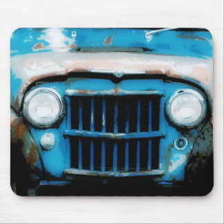 Antique Front Grille and Headlights Mouse Pad