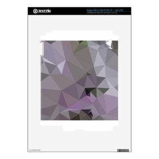 Antique Fuchsia Purple Abstract Low Polygon Backgr iPad 3 Decals