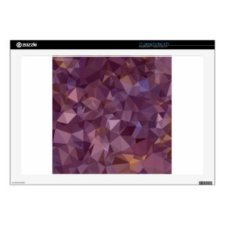 Antique Fuchsia Purple Abstract Low Polygon Backgr Laptop Skins