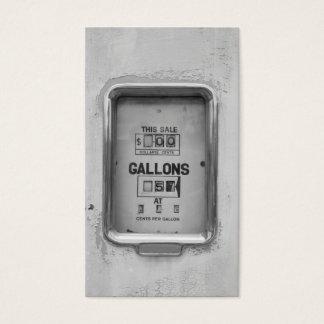 Antique Fuel Bowser Photograph - Business Card
