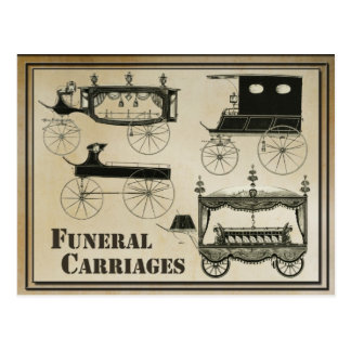 Antique Funeral Carriages Postcard