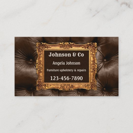 Antique Furniture Or Upholstery Business Card Zazzle