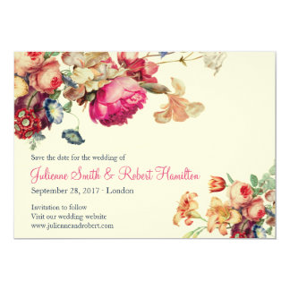 Antique Garden | Custom Vintage Save the Date Card