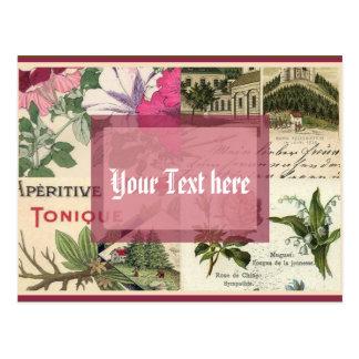 Antique Garden Postcard