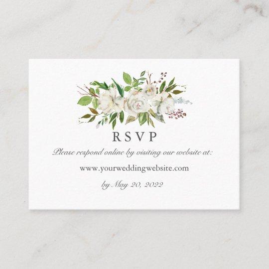 Antique Garden Wedding Rsvp Online Website Business Card