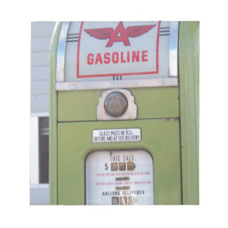 Antique Gas Pump Notepad