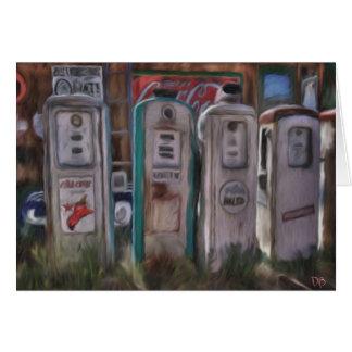 Antique Gas Pumps Cards