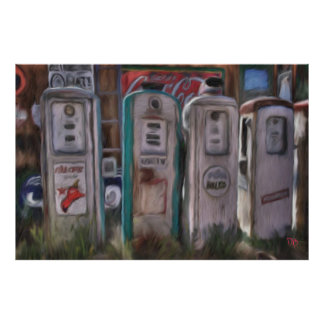 Antique Gas Pumps Posters