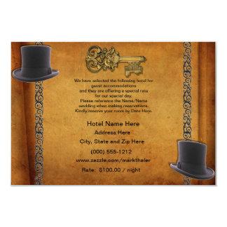 Antique Gay Wedding Custom Accommodations Cards