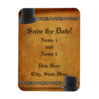 Antique Gay Wedding Custom Save-the-Date Magnets