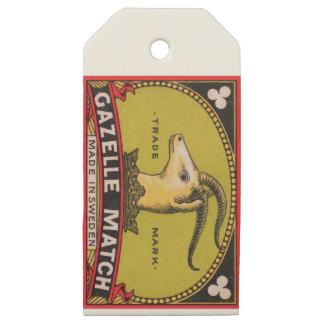 Antique Gazelle Swedish Matchbox Label