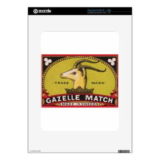 Antique Gazelle Swedish Matchbox Label iPad Skin