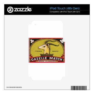 Antique Gazelle Swedish Matchbox Label Skin For iPod Touch 4G
