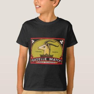 Antique Gazelle Swedish Matchbox Label T-Shirt