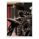 Antique Gears and Books Card