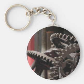 Antique Gears and Books Keychain