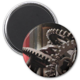 Antique Gears and Books Magnet