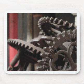 Antique Gears and Books Mousepad