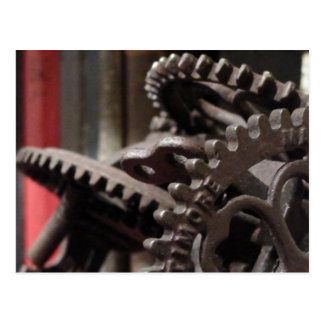 Antique Gears and Books Postcard
