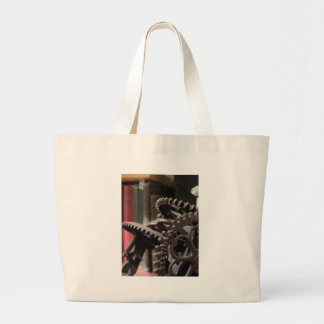 Antique Gears and Books Tote Bag