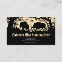 Antique German / Austrian Wild Boar Business Card