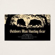 Antique German / Austrian Wild Boar Business Card