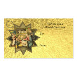 Antique German Christmas Nativity Gift Card Tag Business Card Template