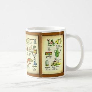 Antique German French English Language Lessons Coffee Mug