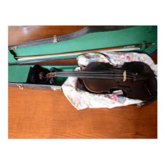 Antique German Violin Postcard