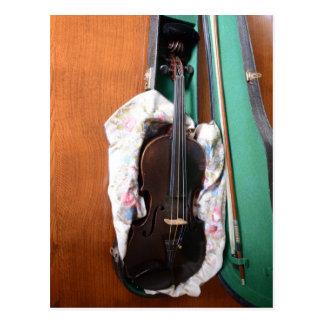Antique German Violin Postcard