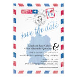 Antique Germany Airmail Save the Date Custom Invitation