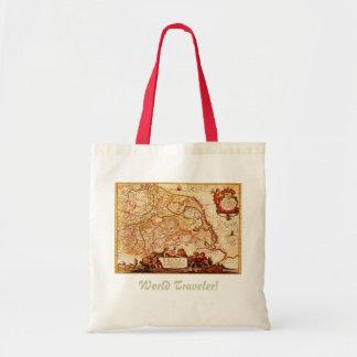 Antique Germany Rhinelands Map Tote Bag