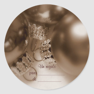 Antique gift tag round stickers