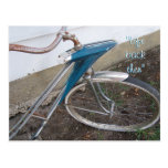 Antique Girl's  Bicycle postcard- customize