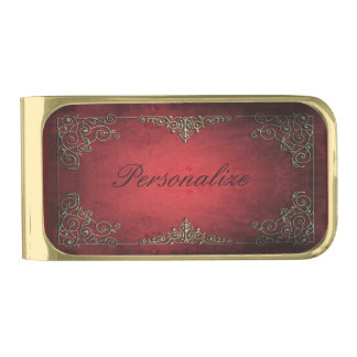 Antique Glamour Gold Finish Money Clip