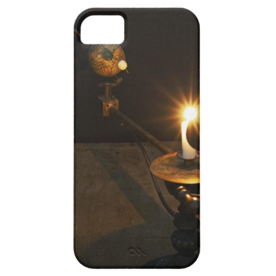 Antique globe and candle solar system model iPhone SE/5/5s case