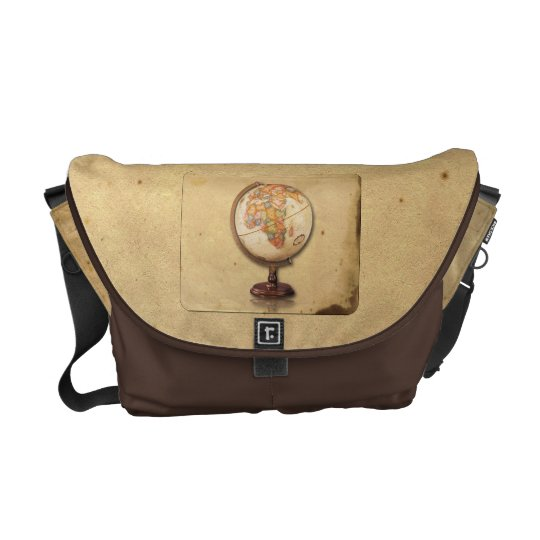 Antique Globe on Parchment Messenger Bag