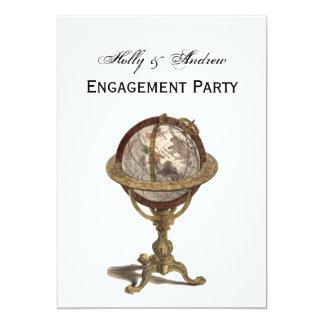 Antique Globe, White BG V Engagement Card