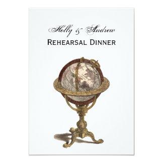 Antique Globe, White BG V Rehearsal Din Card