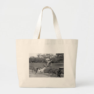 Antique Go Cart, early 1900s Large Tote Bag