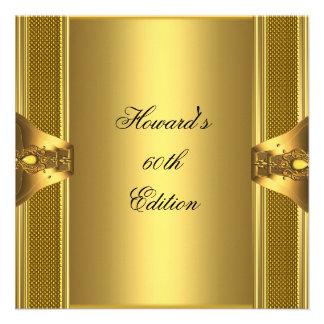 Antique Gold Book Mens 60th Birthday Man Invitation