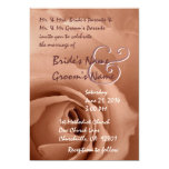 ANTIQUE GOLD DREAMS Rose Wedding Invitation