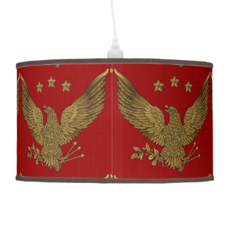 Antique Gold Eagle Hanging Lamps