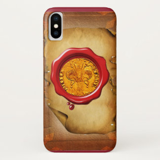 ANTIQUE GOLD FLORENTINE FORINT wax parchment iPhone X Case