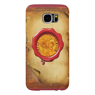 ANTIQUE GOLD FLORENTINE FORINT wax parchment Samsung Galaxy S6 Case