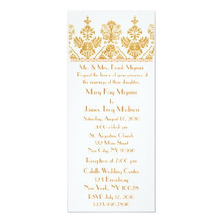 Antique Gold Formal Trim Motif Wedding Invitation
