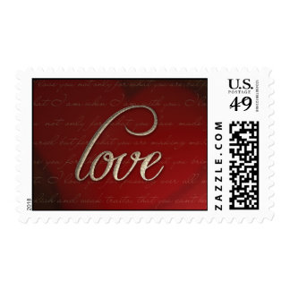 Antique Gold Love-Medium Postage