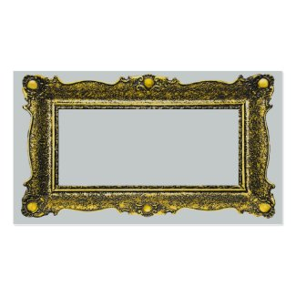 Antique Gold Picture Frame Pack Of Standard Business Cards