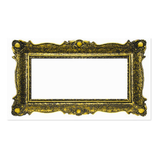 Antique Gold Picture Frame Double-Sided Standard Business Cards (Pack Of 100)